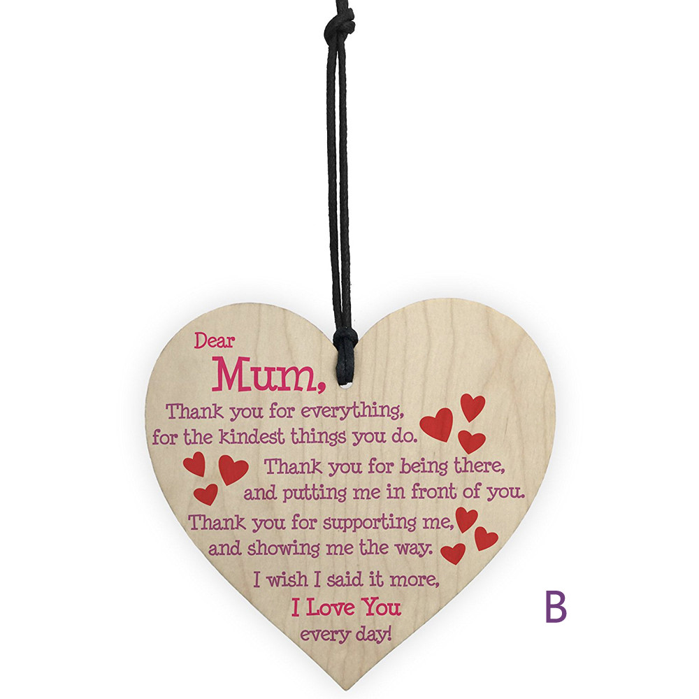 Wooden Hanging Gift Plaque Pendant Family Friendship Love Sign Wine Tags Decor A20