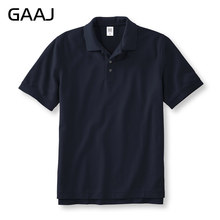 GAAJ Brand Polo 2019 Men's Shirt For Men & Women Polos 3XL Plus Size 100% Cotton Short Solid Clothes Wine Grey Red Pink Green(China)