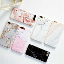 iPhone 8 Plus Colorful Painted Soft Silicone Cover For iPhone 6 7 6S Plus 7 Plus 8 Back Fundas Capa Luxury Marble Stone Case