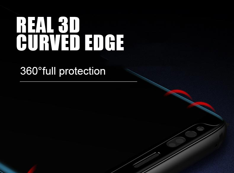 Artisome Tempered Glass For Samsung Galaxy S8 Glass 3D Curved Edge Glass Film For Samsung Galaxy S9 S8 Plus Screen Protector (3)