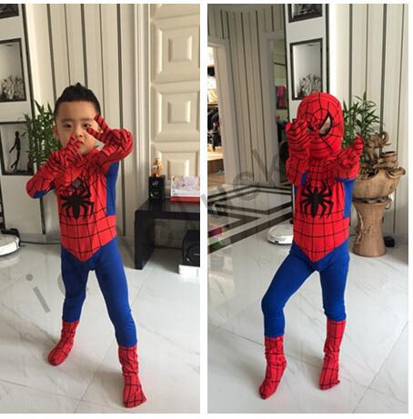 New Mens Adult Childrens Boy Halloween Spiderman Cosplay Costumes Lycra Zentai SuperHero Costume Full Body Suit Full Size in Movie TV costumes from Novelty Special Use