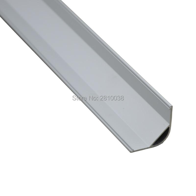 10 X 1M Sets/Lot Anodized Led profil 45 grad and AL6063 Led aluminium profil 45 grad for cabinet or kitchen corner lights