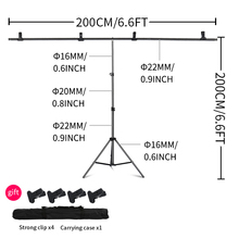 Hot Selling 2m 2m 6 5ft 6 5ft Professional Photo Backdrops stand Background Support System free