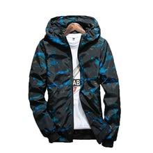 NaranjaSabor Spring Autumn Mens Casual Camouflage Hoodie Jacket Men Waterproof Clothes Men's Windbreaker Coat Male Outwear 4XL