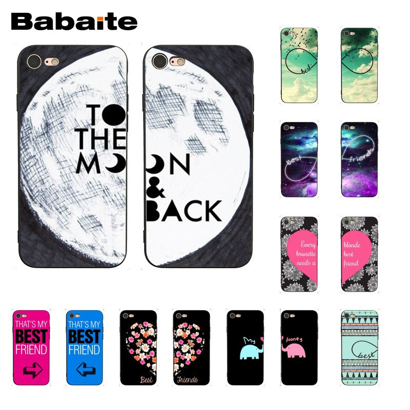 Babaite Best Friend Girlfriend Boyfriend Phone Case for iphone 11 Pro 11Pro Max X XS MAX 6 6S 7 7plus 8 8Plus 5 5S XR image