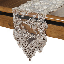 Exquisite Tulle Lace Embroidered Table Runner Mats Flag European Style Desk Placemat Bordado Christmas Wedding Decoration