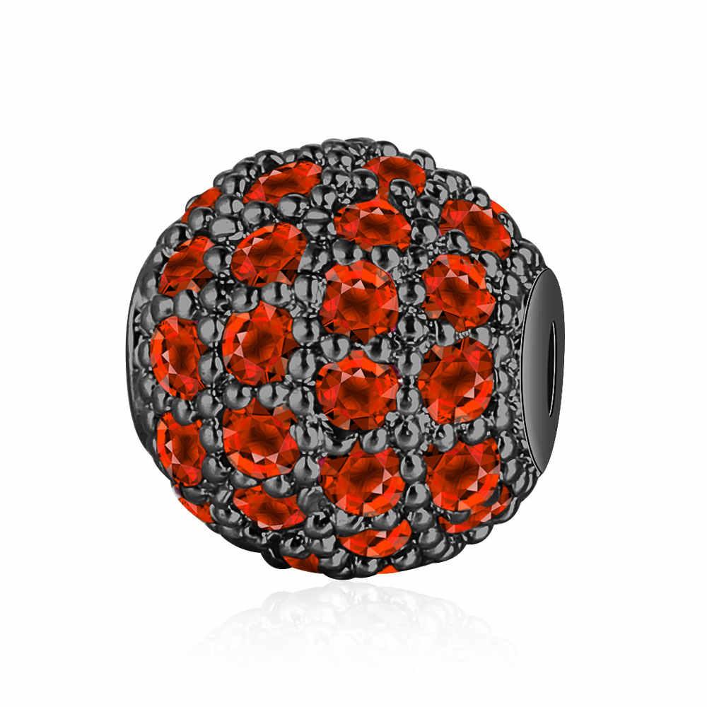 8mm Nhiều Màu Sắc 100% Micro CZ Zircon Disco Chuỗi Hạt Bi Bán Buôn Súng Kim Loại Chứa Đầy TỰ LÀM Không Gian Siêu Tốc Hạt cho Vòng Tay làm cho