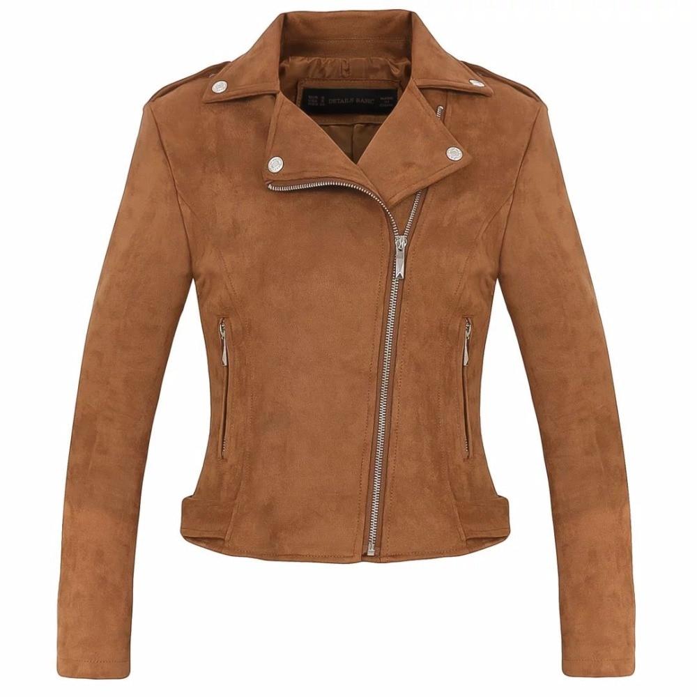 Women's clothing casual high quality faux   suede     leather   fashion ladies soft faux   Leather   coat Women locomotive coat biker jacket