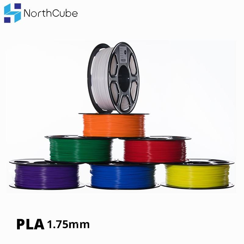 NorthCube Marca Qualidade 3D PLA Impressora de Filamento 1.75 milímetros, 1KG Tolerância +/-0.02mm para Impressora e 3D 3D Caneta