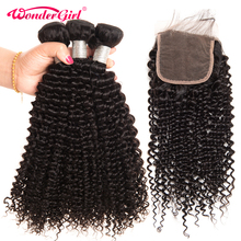 Afro Malaysian Kinky Curly Bundles With Closure 100% Human Hair Bundles With Closure Remy Hair 3 Bundles With Closure No Tangle