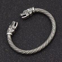 Wolf Head Bracelet Viking Bracelet Teen Indian Jewelry Accessories Men Wristband Cuff Bracelets Women Bangles Stainless Steel цена в Москве и Питере