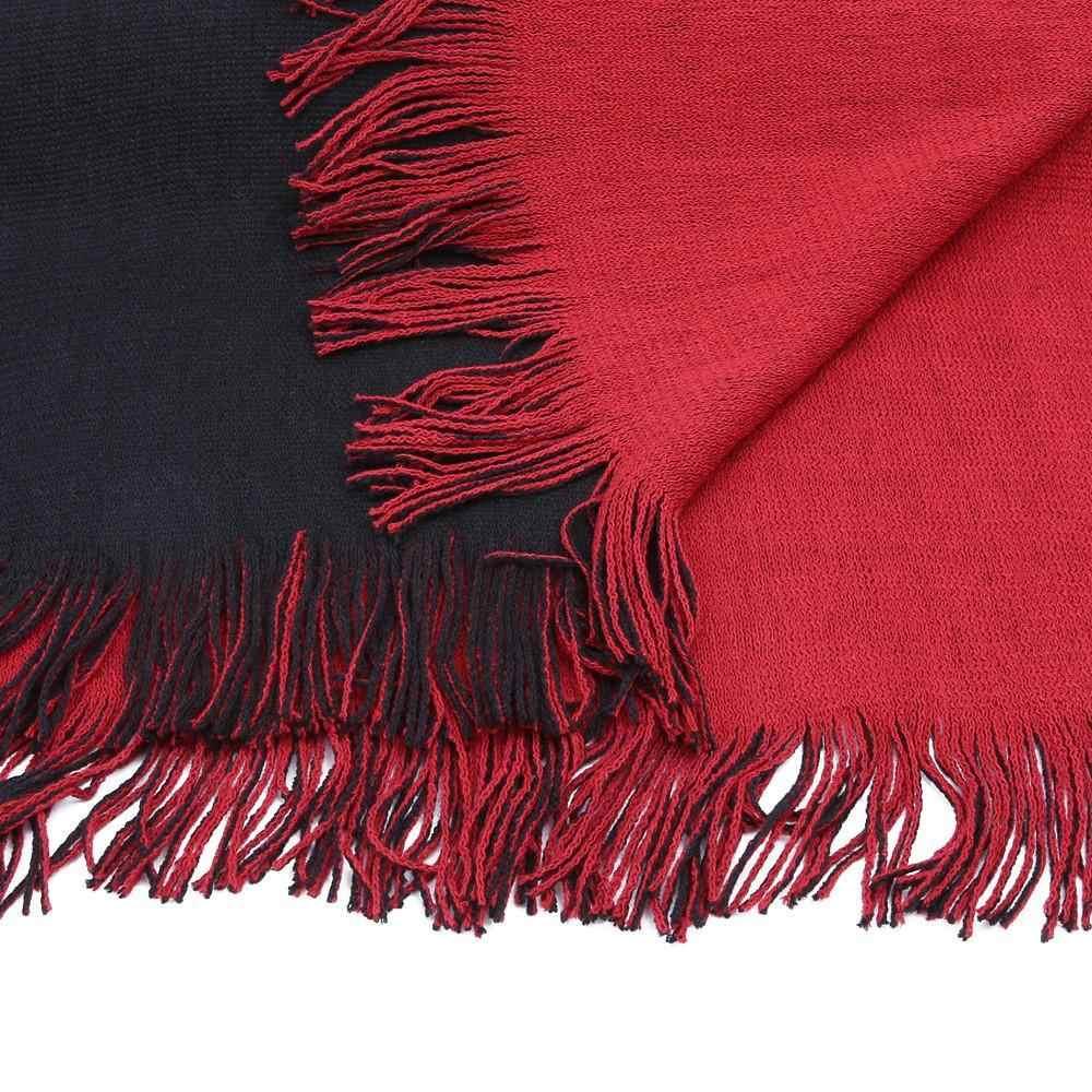 Oversize Deversible Delle Donne di Inverno Cachemire Lavorato A Maglia Poncho Capes Scialle Cardigan del Cappotto Del Maglione Q6-32E