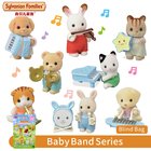 Sylvanian Families Baby Band Series Furry Animal Blind Bag with One Figure and Musical Instrument Random New