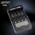 Varicore v40 3.7 v 18650 26650 18350 16340 18500 25500 10440 17500 nimh 1.2 v aa aaa 5 v salida lcd inteligente cargador de batería