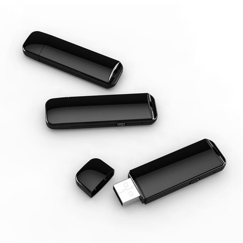 Small USB Flash Drive Voice Activated Recorder 32GB Mini Invisible Audio Sound Recording Device U Disk Dictaphone With Package