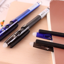 wholesale Multi-functional erasable pen friction gel pen 0.5 creative crystal blue/black ink NNRTS Stationery japanese pilot lkfb 80ef multi function four color red blue black and green erasable pen gel pen multi function pen 1pcs lot