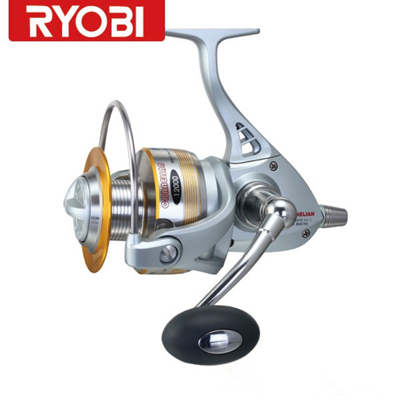 Cheap 100 ryobi carnelin 12000 12bb 4 4 1 spinning for Cheap fishing reels