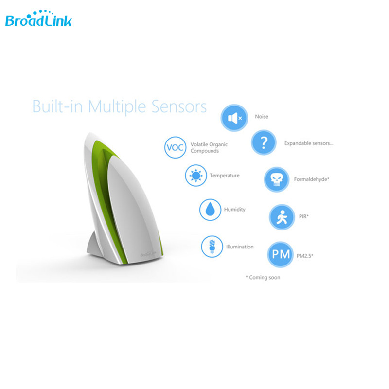 Broadlink A1 Air Quality Wifi Remote Control Detector Temperature Humidity Light Sensor Smart Home Automation by Andriod IOs smart home sensor orvibo zigbee automation mini hub smart home motion sensor wifi internet smart home remote sensor