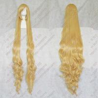 Darmowa Wysyłka Odporny na wysokie temperatury>> 59 cal Roszpunka Stylizowany Na Zamówienie Mieszane blond peruka Styl peruka 150 cm