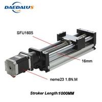 NEW Cnc Kit For Kossel Mini Linear Actuator System Module Table 1000mm Travel Length Cnc Guide 1605 Ballscrew Sliding