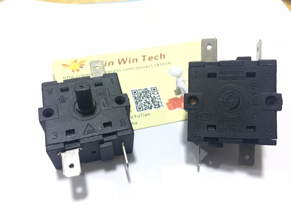 Free Shipping 2pcs Electric Heater, Electric Oil, Butyl Switch 25T125 Size 32*32*18mm U.PA66 5pins 15A 250V