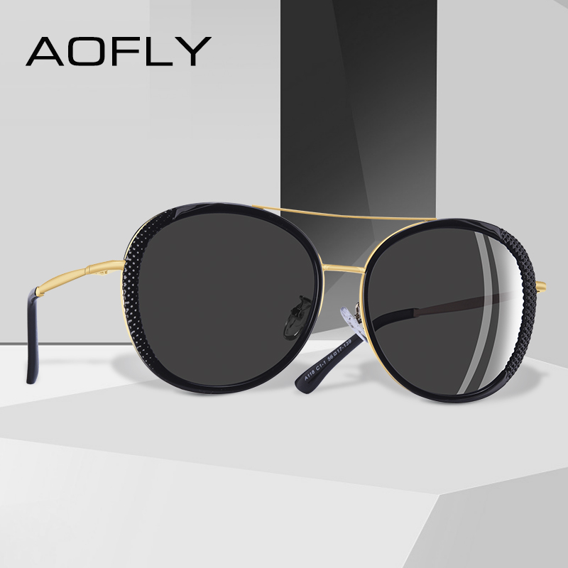 c4e384c994 AOFLY 2019 diseño de moda de las mujeres elegantes gafas de sol de estilo  de marca de alta calidad gafas de sol polarizadas para mujeres mujer tonos  A118