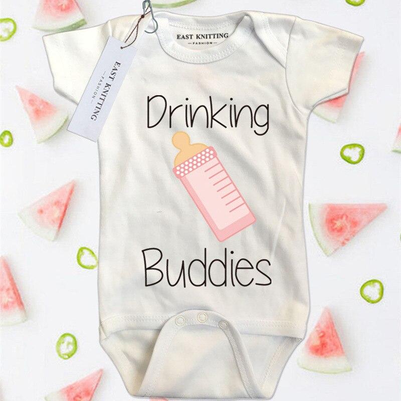 2018 Body dla dzieci Summer Milk Printed White Cotton Odzież dla - Odzież dla niemowląt - Zdjęcie 3