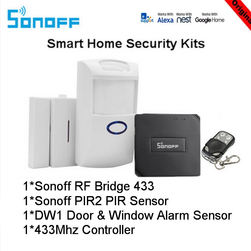 Sonoff RF Bridge 433MHZ Wifi Wireless Signal Converter PIR 2 Sensor/ DW1 Door & Window Alarm Sensor for Smart Home Security Kits(China)