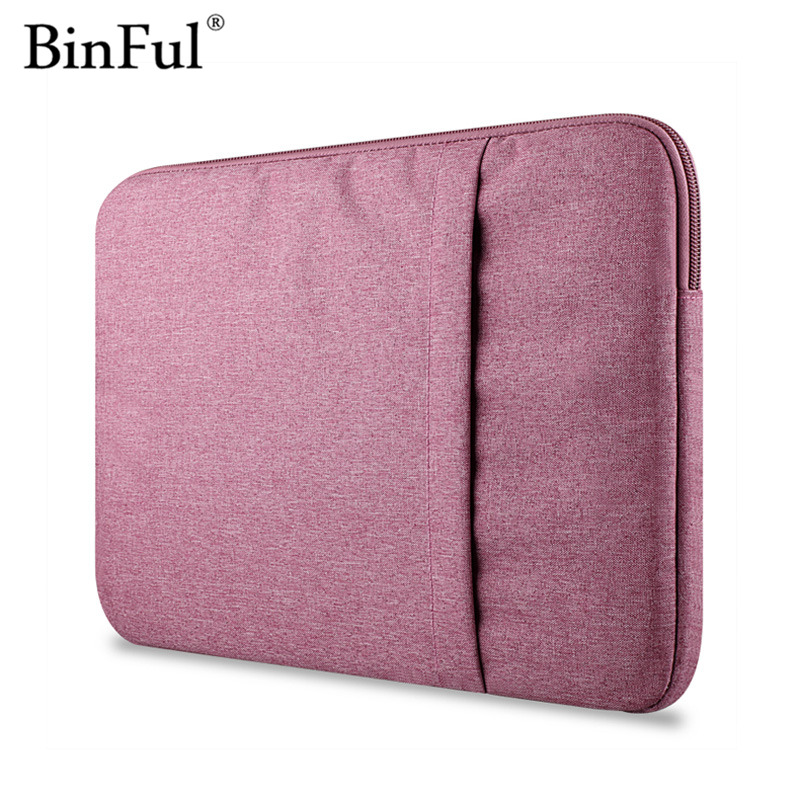 Binful Nylon Laptop Sleeve Notebook Bag Pouch Case for Macbook Air 11 13 12 15 Pro 13.3 15.4 Retina 7.9 for iPad Mini pro 9.7 binful 12 13 15 15 6 inch sleeve laptop bag notebook case computer cover handle pouch for macbook air pro retina 11 6 13 3 15 4