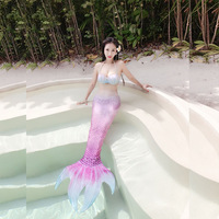 Top Quality Adult Mermaid Tail Cosplay Costume Dress For Women Tails With Monofin