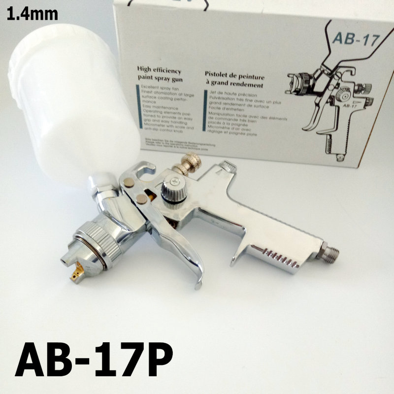 spray gun ab 17p hvlp gravity type 600ml plastic cup use for primer painting paint robot. Black Bedroom Furniture Sets. Home Design Ideas