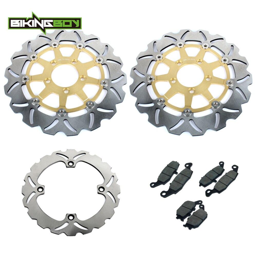 все цены на BIKINGBOY Front Raer Brake Discs Rotors Disks Pads For SUZUKI DL 650 V-Strom 2004 2005 2006 DL 1000 V-Strom 2002-2009 K2-K9