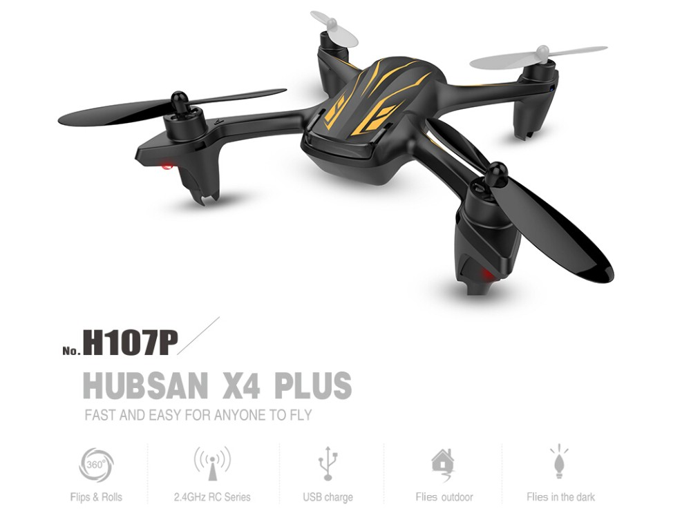 F16920 Hubsan X4 Plus H107P 4CH with LED RTF 2 4GHz Altitude Mode RC Quadcopter