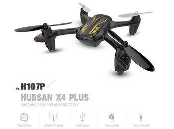 F16920 Hubsan X4 Plus H107P 4CH with LED RTF 2.4GHz Altitude Mode RC Quadcopter