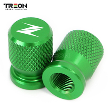 Motorcycle Accessorie Wheel Tire Valve Stem Caps CNC Airtight Covers For KAWASAKI Z750 Z650 Z800 Z900 Z1000 ZX6R ZX10R ZX14R hot sale for kawasaki z800 zx6r zx14r zx10r motorcycle 14mm cnc aluminum suspension fork preload adjusters black