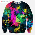 Sportlover Fashion Women Men Colorful Paint Hoodies Creative Design Art Tie-Dye Sweatshirt Unisex Street Wear Crewneck Sweats
