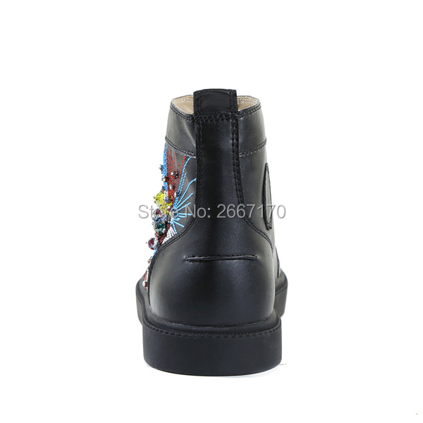 Ocasionales Del High Shooegle 47 Rhinestone Más Up Hombres Goma Tamaño Cuero De Marca Zapatos Negro Hombre As Pic Entrenadores Top Pisos Zapatillas Lace xqPrYnXP4