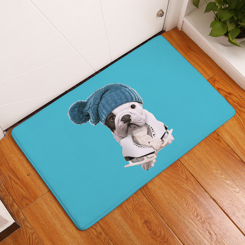 High Quality Cartoon Style Creative Dog Print Carpets Anti