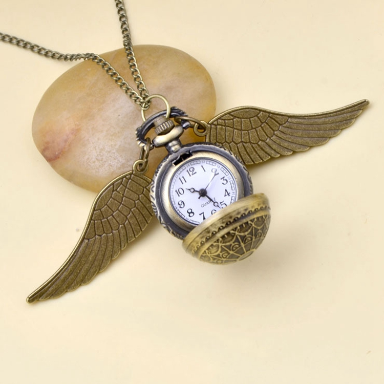Cosplay Golden Wings Snitch Toy Watch Quartz Pocket Watch Necklace Balls Snitch Necklace Toys Fly Thief Christmas Gift Toys
