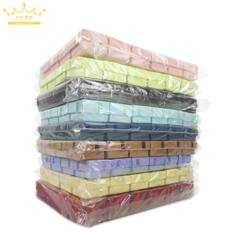 Wholesale 240pcs Assorted Colors Jewelry Display Box Ring Box Earrings 4 4 3cm Packaging Gift Box