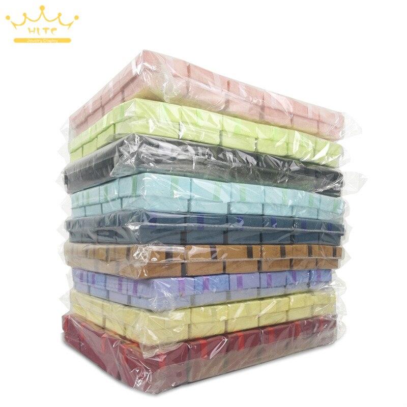 Venta al por mayor 240 piezas colores surtidos joyería caja anillo caja pendientes 4*4*3cm caja de regalo de embalaje envío Gratis-in Envase y exposición de joyería from Joyería y accesorios    1