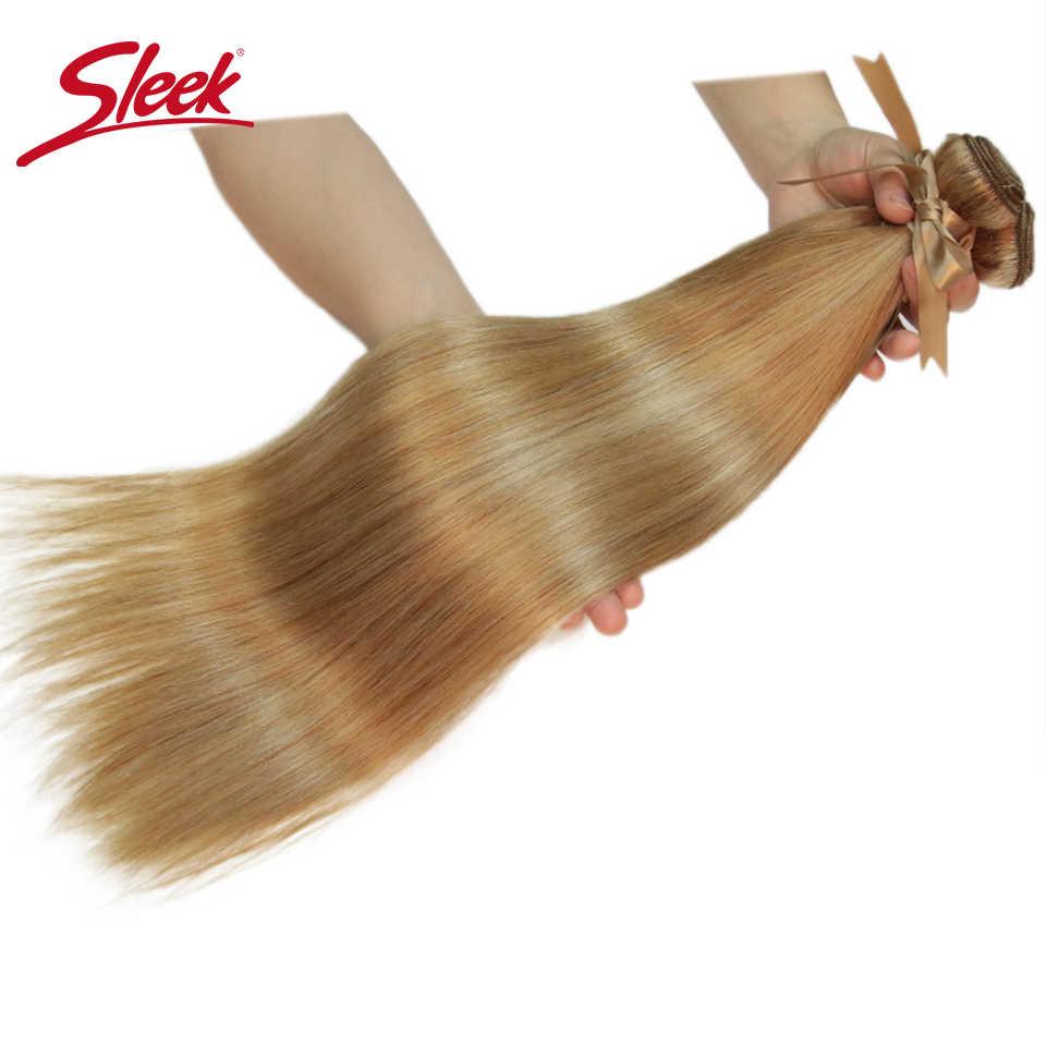 Elegancki włosy brazylijskie remy splot P27/613 P6/22 P8/22 wiązki 10-24 cali proste włosy ludzkie rozszerzenia włosy blond wyplata wiązki
