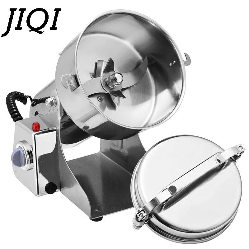 JIQI Multifunction Swing Type Electric Grain Grinder 800G Herb Pulverizer Automatic Food Powder Mill Grinding Machine 110V 220V цена и фото