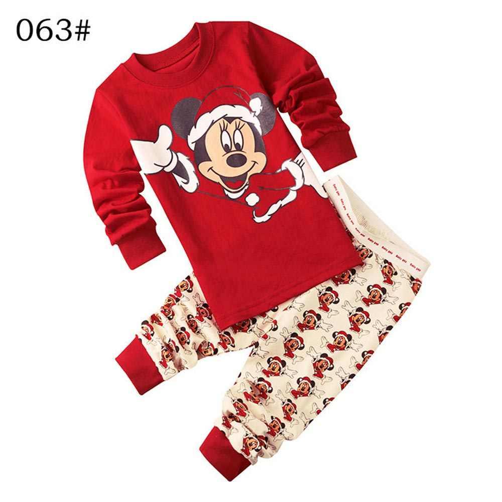 c85db1d95e Mickey Baby Boys Summer Pijama Sets Children Sleepwear 100% Cotton Fashion  Kids Girl Minnie Pajamas Suit T-Shirt Pants 2pcs