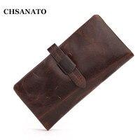 New 2016 Luxury Vintage Designer High Quality 100 Genuine Cowhide Leather Men Long Clutch Wallet Wallets
