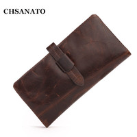 New 2016 Luxury Vintage Designer High Quality 100 Genuine Cowhide Leather Men Long Clutch Wallet Wallets