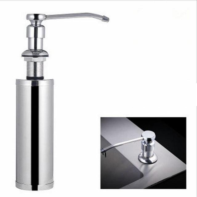 kitchen dish soap dispenser pendant lights over island portable bathroom sink liquid dispensers metal cleaning detergent storage
