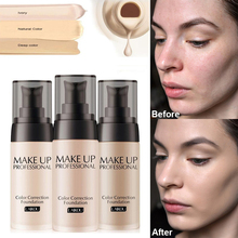 Professional Makeup Base Face Liquid Foundation BB Cream Concealer Moisturizer Oil-control Whitening Waterproof Cosmetic professional bb cream brighten base makeup concealer long lasting face whitening foundation bb cream cosmetic korean