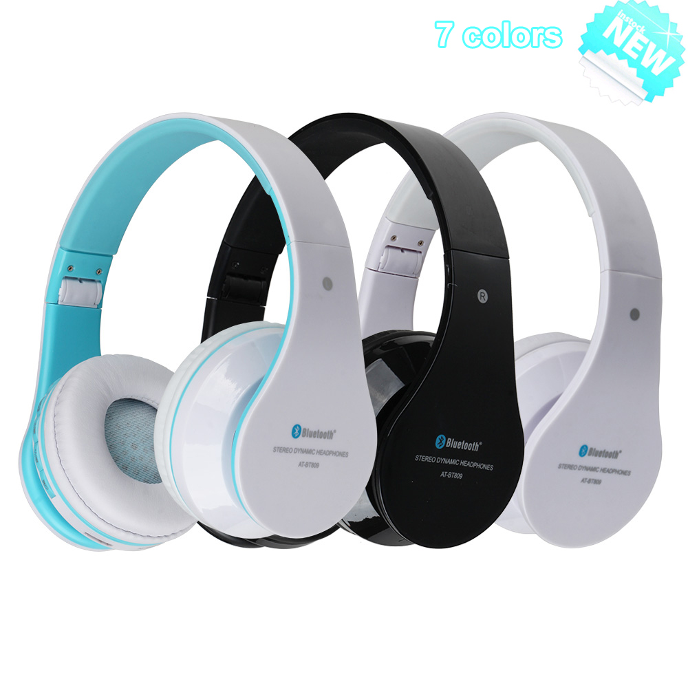 AT BT809 Foldable Wireless Bluetooth Stereo Headphones ...