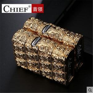 Image 5 - Luxury Thousand Buddhas Lighter Men Gadgets Kerosene Oil 3D Petrol Lighter Gasoline Cigarette Accessories Retro Relief Lighter